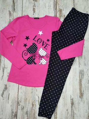 Pijama-Cats-carrie-boutique-rozova